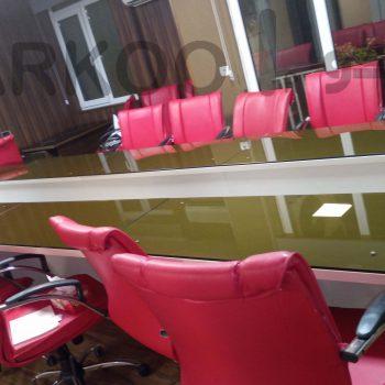 میز کنفرانس شیشه رومیزی فرکو