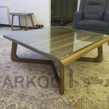 شیشه رومیزی میز چوبی