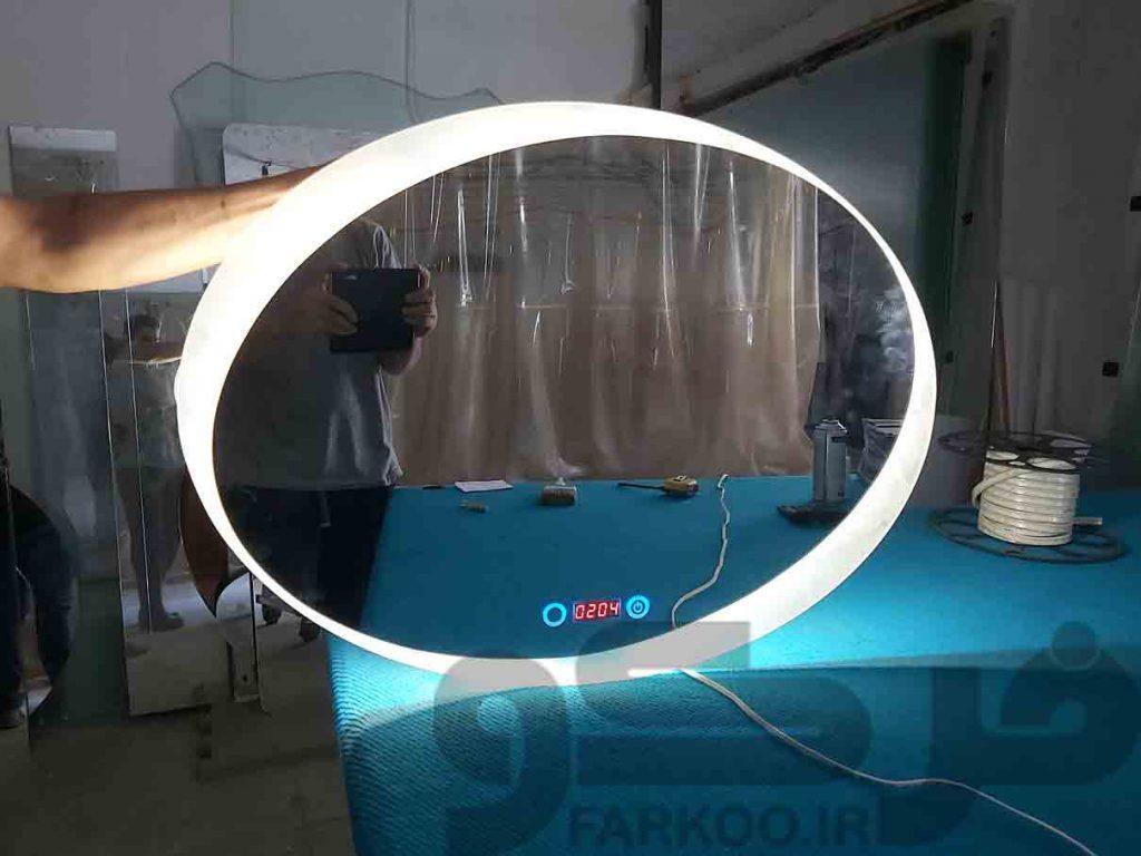 آینه لمسی بک لایت و هوشمند تولید صنایع فرکو